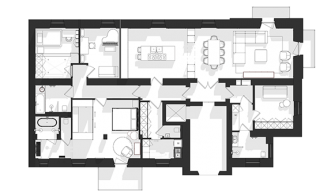 milan apt.yerleşim planı