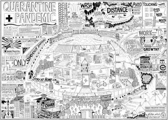 karantina pandemik haritası